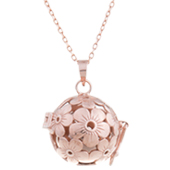 Collier bijou de grossesse Cymosa or rose